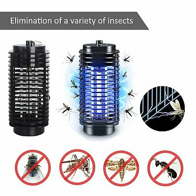 Electric Fly Bug Zapper Mosquito Insect Killer Blue UV Light Trap Catcher Lamp • 7.99£