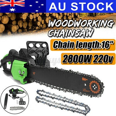 AU67.99 • Buy AU 16'' 2800W Electric Chainsaw Saw Chain Cutter Pruner Tree Pruning Woodworking