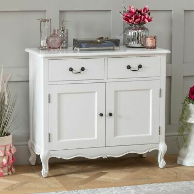 French Chateau Painted Oak 2 Drawer 2 Door Medium Sideboard- BRAND NEW- FW22 • 319£