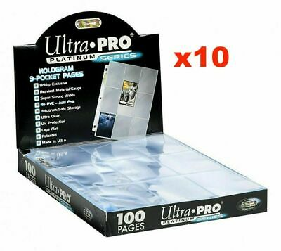 AU6.50 • Buy 10 X ULTRA PRO PLATINUM TRADING CARD 9 POCKET 3 HOLES AFL & POKEMON SLEEVES
