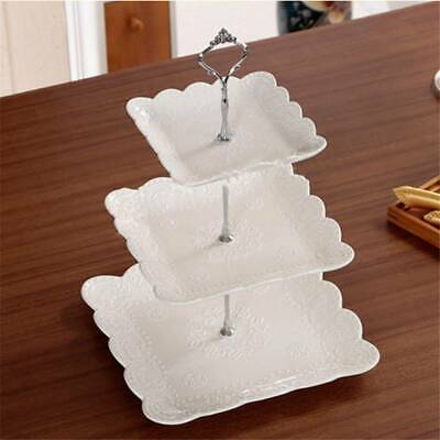 £3.19 • Buy 2/3 Tier Cake Plate Stand Handle Sets Cupcake Crown Fitting Metal Wedding Party