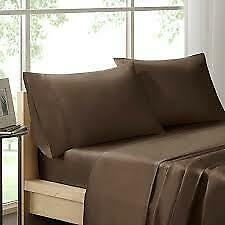 Chocolate Brown 4pc KING Pure Beech Sheet Set 100% Modal Sateen 400 Thread Count • 129.99$