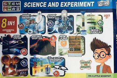 AU78.40 • Buy 8x Science And Experiment Kits 🧪 Maths Plants Engineering Chemistry STEM 👨🔬