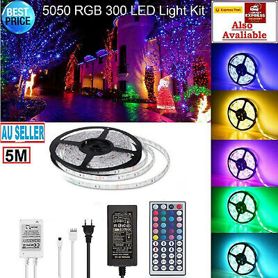 AU15.95 • Buy Led Strip Lights Waterproof 5050 With Remote Connectors 4 Pin 12v For Car Room