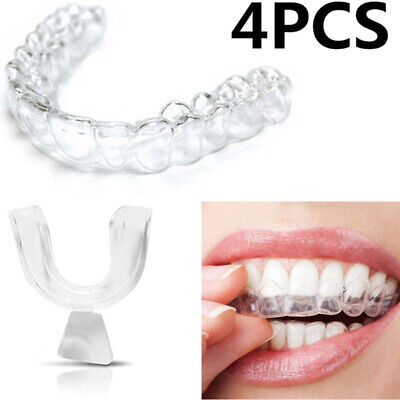 AU12.01 • Buy Teeth Whitening Mouth Tray Clenching Grinding Silicone Night Teeth Guard - 4pcs