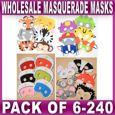 Wholesale MASQUERADE MASK For KIDS Party Face Eye Masks Resell Bulk Buy Job Lot • 7.99£