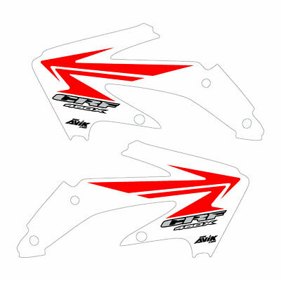 $65 • Buy Honda CRF450x 2005-2016 White/Red Stock Style B Shroud Graphics Free Shipping!!!