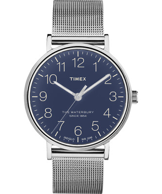 $76.42 • Buy Timex The Waterbury Men's Watch Classic 40mm Blue Dial Mesh Band TW2R25900