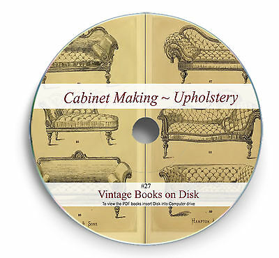 Rare Cabinet Making Furniture Upholstery Books On DVD Carpentry French Polish 28 • 3.90£