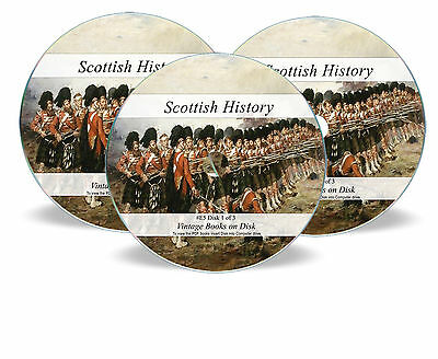 Scottish History Ancestry 652 Rare Books 3  DVDs - Scotland Family Genealogy E5 • 4.87£