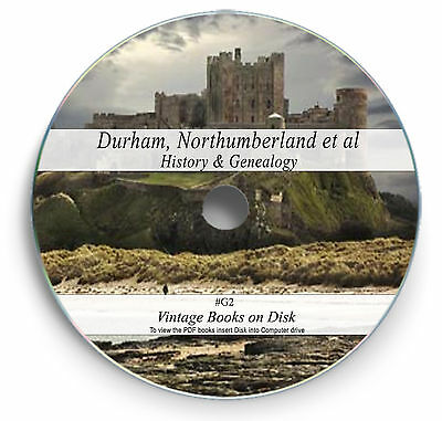 225 Rare Books On DVD  -  Durham Tyne Wear Northumberland History Genealogy G2 • 3.90£