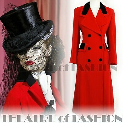COAT VINTAGE RIDING JACKET MANSFIELD RED VICTORIAN MISTRESS VAMP 40s 30s 50s  • 575£