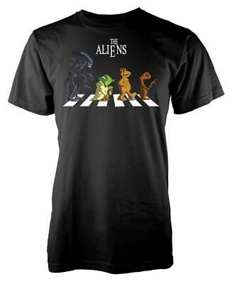 The Aliens Abbey Road Crossing Fun Adult T Shirt • 9.49£