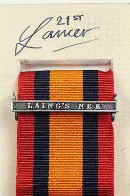 AU15.14 • Buy Qsa Queens South Africa Medal Ribbon Bar Clasp Laing's Nek Boer War Campaign