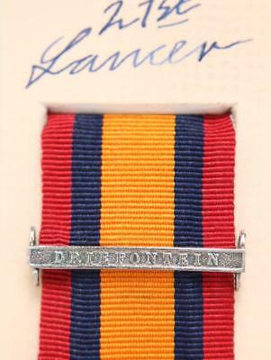 AU15.14 • Buy Qsa Queens South Africa Medal Ribbon Bar Clasp Driefontein Boer War Campaign