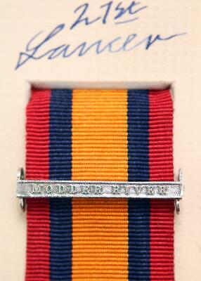 AU15.14 • Buy Qsa Queens South Africa Medal Ribbon Bar Clasp Modder River Boer War Campaign