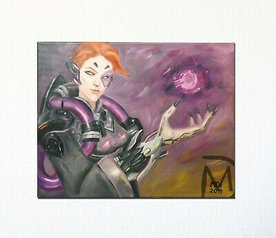 AU90.11 • Buy Handmade Painted Oil Painting Fan Art Canvas / Overwatch Hero Moira
