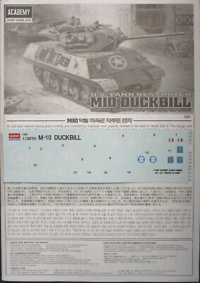 $8.19 • Buy Academy 1/35 US Tank Destroyer M10 Duckbill Decals From Kit No. 1397