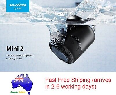 AU169.99 • Buy Anker SoundCore Mini 2 Portable Bluetooth Speaker IPX7 Waterproof 6W Power