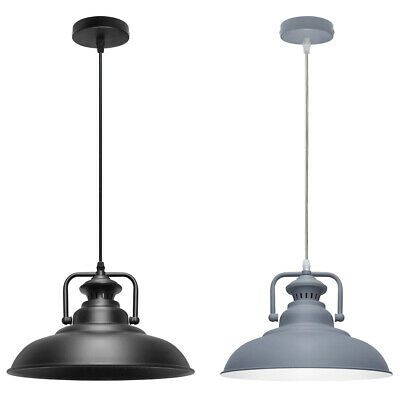 Vintage Industrial Metal Ceiling Pendant Shade Modern Hanging Retro Lights  • 19.99£