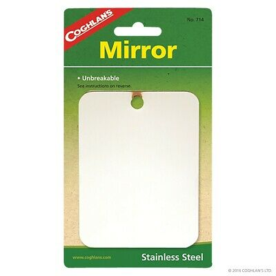 £4.98 • Buy Coghlans Stainless Steel Mirror Unbreakable Compact 8.3 X 10.8 Cm Coghlan's