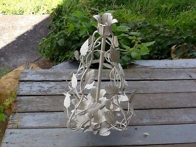 £31.13 • Buy Hanging Candle Holder White Metal Leaves/Vines Intertwined Made In Italy