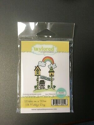 Taylored Expressions Cling Stamp, Wishes On A Wire - St. Paddy's Day #TEALC110 • 5.99$