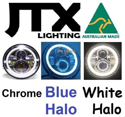 AU375 • Buy 7  JTX CHROME LED Headlights BLUE WHITE Ford Bronco F100 F150 F250 F350 Pick Up