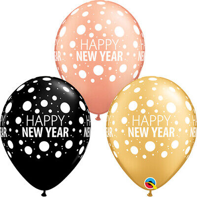 Happy New Year 11  Black Gold Balloons New Years Eve Party Decorations BAL9980  • 3.60£