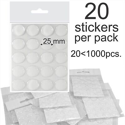 25mm 1  Inch Clear Epoxy Resin Dome Stickers Self Adhesive Bottle Caps Cabochon • 2.99£