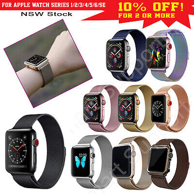 AU6.99 • Buy Apple Watch Band Series 5,4,3,2,1 Milanese Magnetic Stainless Steel IWatch Strap