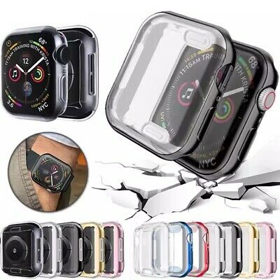 $ CDN3.53 • Buy IWatch Apple Watch Series 5 4 3 2 1 Tpu Protector Cover Case With Screen 38 42mm