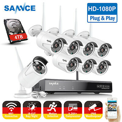 AU189.90 • Buy SANNCE Wireless CCTV Home Security System 2MP HD Outdoor 8CH DVR WIFI IP Camera