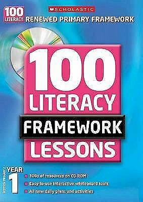 £6.74 • Buy 100 New Literacy Framework Lessons For Year 1 With CD-ROM Hybrid