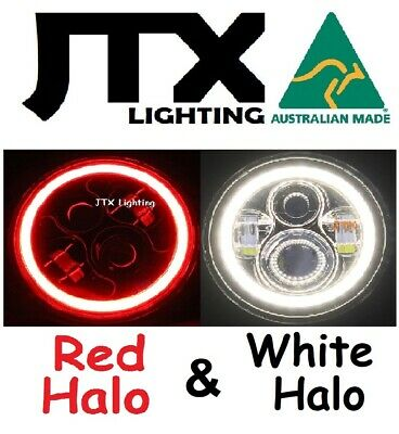 AU375 • Buy  7  LED Headlights RED And WHITE Ford Bronco PickUp F100 F150 F250 F350