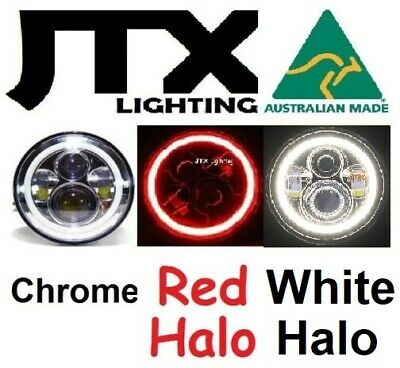 AU375 • Buy  7  LED Chrome Headlights RED And WHITE Ford Bronco PickUp F100 F150 F250 F350