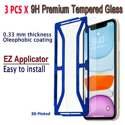 AU10.23 • Buy 3pcs X Tempered Glass Screen Protector With EZ Applicator For IPhone 11 Pro MAX