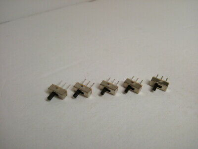$7.92 • Buy 5X Pack On Off Mini Slide Switch SS12D00 SS12D00G4 3 Pin 1P2T Toggle Button 2 Po