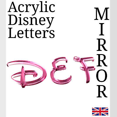 Disney Letters Pink Acrylic Mirror For Plaque Wall Door Display And Arts & Craft • 4.99£