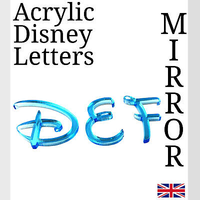 Disney Letters Blue Acrylic Mirror For Plaque Wall Door Display And Arts & Craft • 1.49£