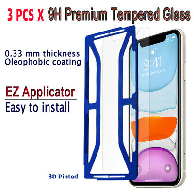 AU10.23 • Buy 3pcs X Tempered Glass Screen Protector With EZ Applicator For IPhone 11 I11G3