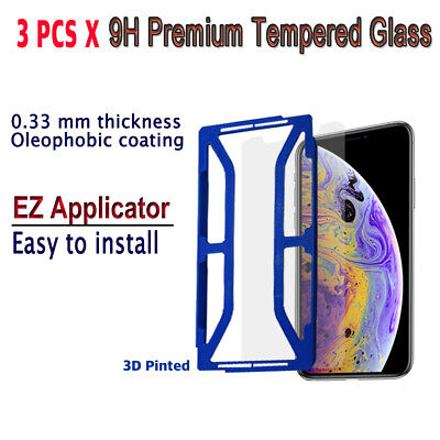 AU10.23 • Buy 3pcs X Tempered Glass Screen Protector With EZ Applicator For IPhone XS IXSG3