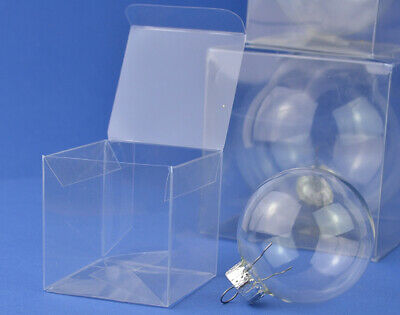 £5.36 • Buy 10 Acetate Cube Box Presentation Boxes For Gifts Or Baubles 6cm