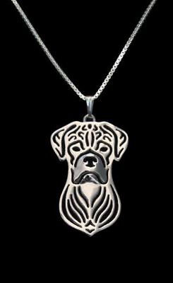 Boxer Dog Pendant Necklace Jewellery Gift With 18 Inch Chain - Silver • 9.65£
