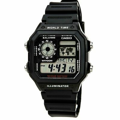 View Details Brand New Casio World Time Digital Watch  Ae1200wh-1a **uk Seller** • 33.00£