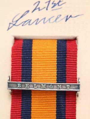 AU15.12 • Buy Qsa Queens South Africa Medal Ribbon Bar Clasp Belmont Boer War Campaign