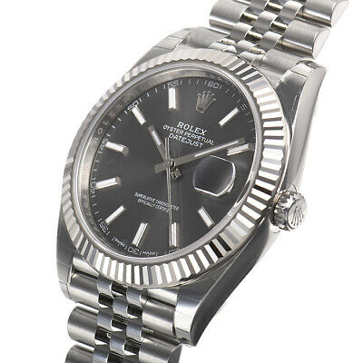 $ CDN15115.37 • Buy Rolex Datejust 41mm 126334 Steel Fluted Bezel Jubilee Rhodium Index Auto Watch