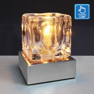 £99.99 • Buy Dimmable Touch Table Light Glass Ice Cube Bedside Study Office Dimmer Lamp M0112
