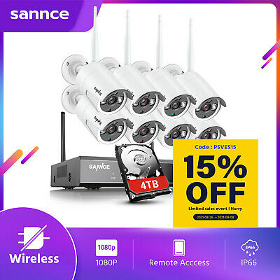 AU199.99 • Buy SANNCE Wireless CCTV Home Security System 1080P 8CH NVR Outdoor IP Camera 2MP IR
