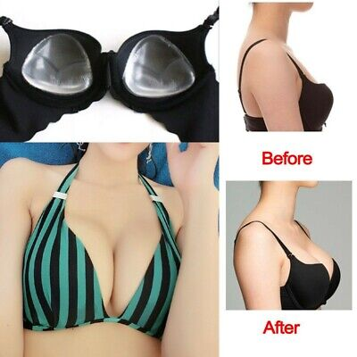 Silicone Gel Bra Breast Enhancers Push Up Pads Chicken Bikini Fillets Inserts • 4.99£
